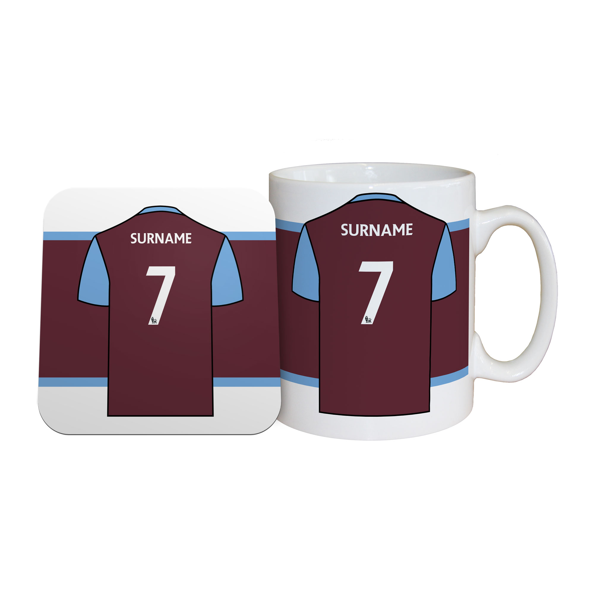 West Ham United FC Shirt Mug & Coaster Set