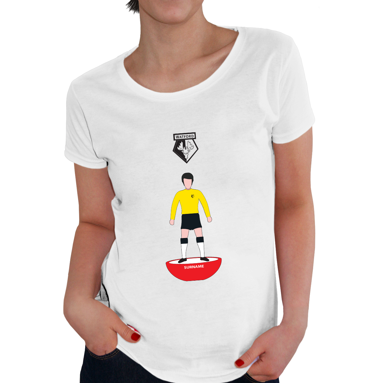 Watford FC Player Figure Ladies T-Shirt