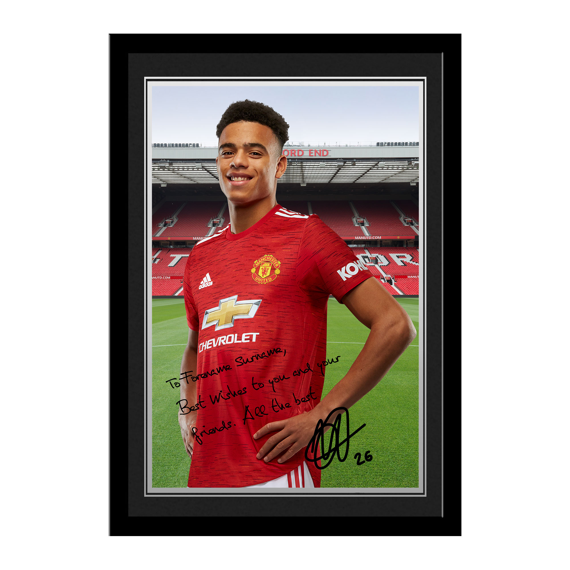 Manchester United FC Greenwood Autograph Photo Framed
