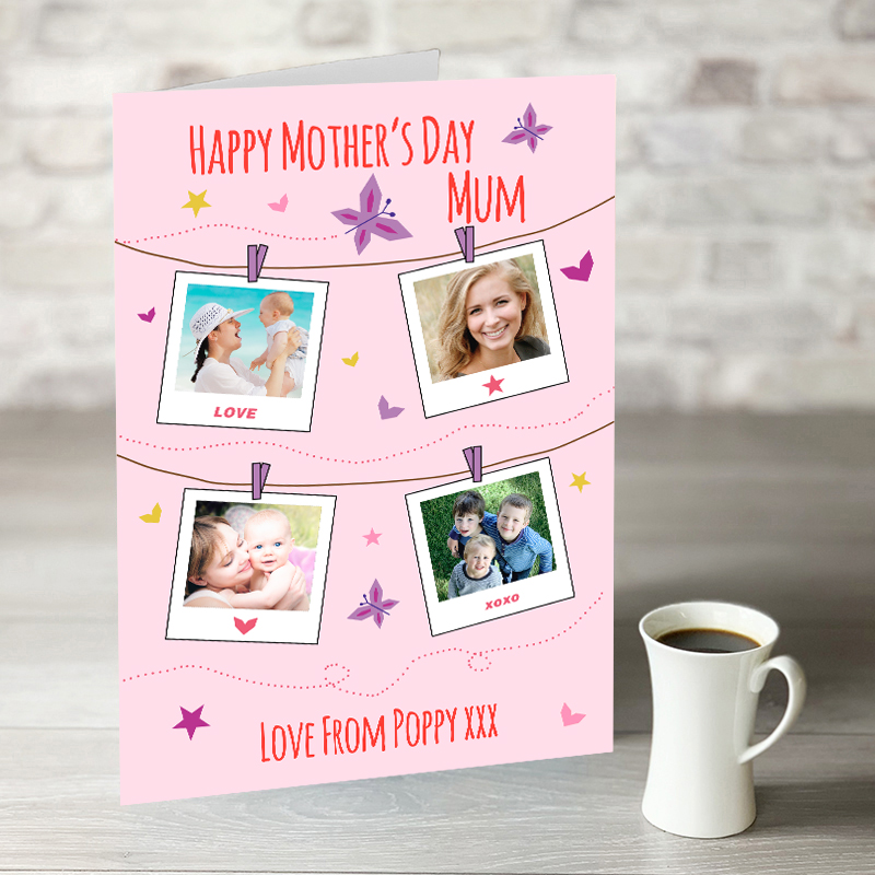 XL Happy Mothers Day With 4 Photo Upload