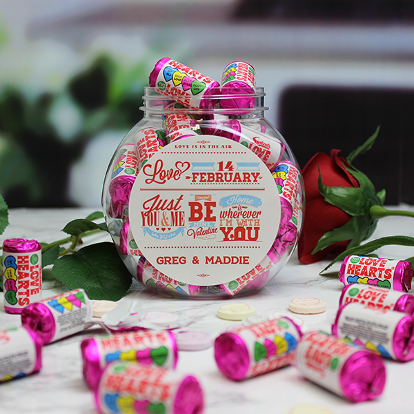 Be My Valentine Love Hearts Sweet Jar