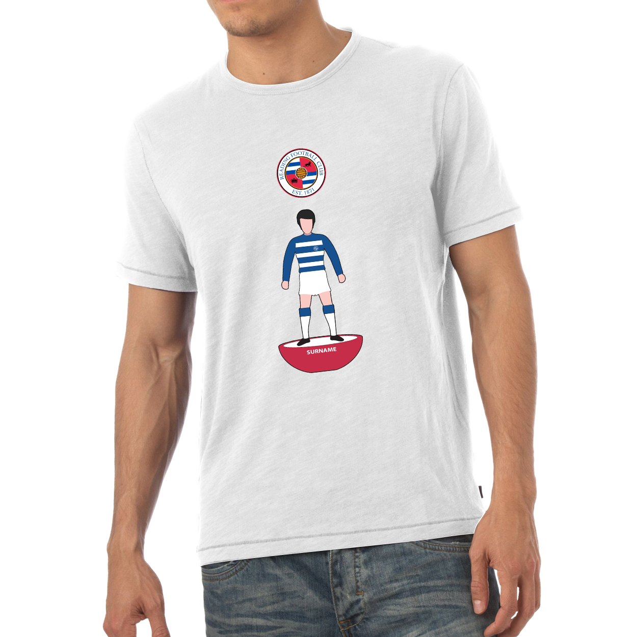 Reading FC Player Figure Mens T-Shirt