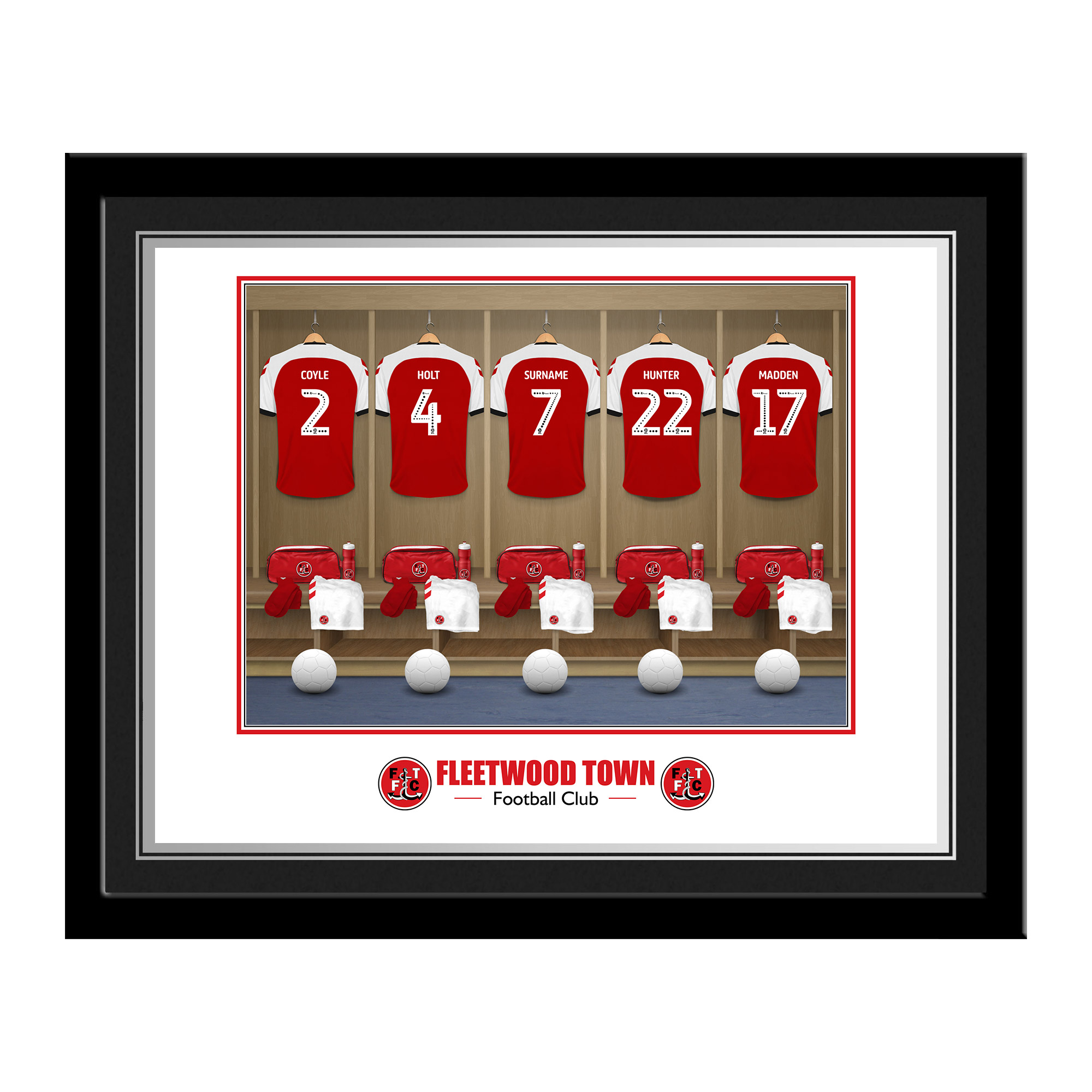 Fleetwood Town FC Dressing Room Photo Framed