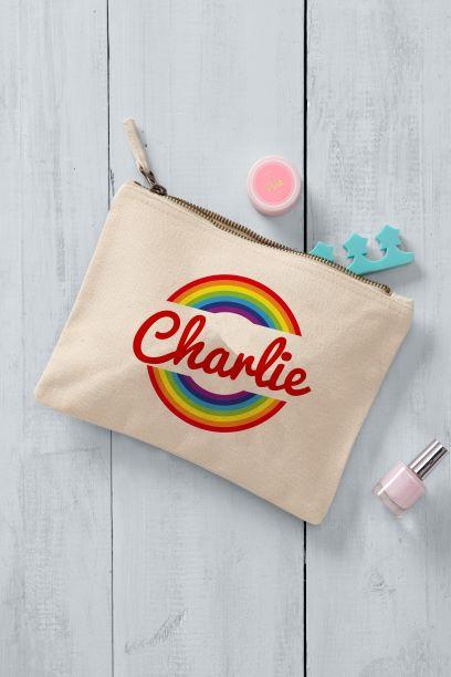 Rainbow Printed Makeup Bag