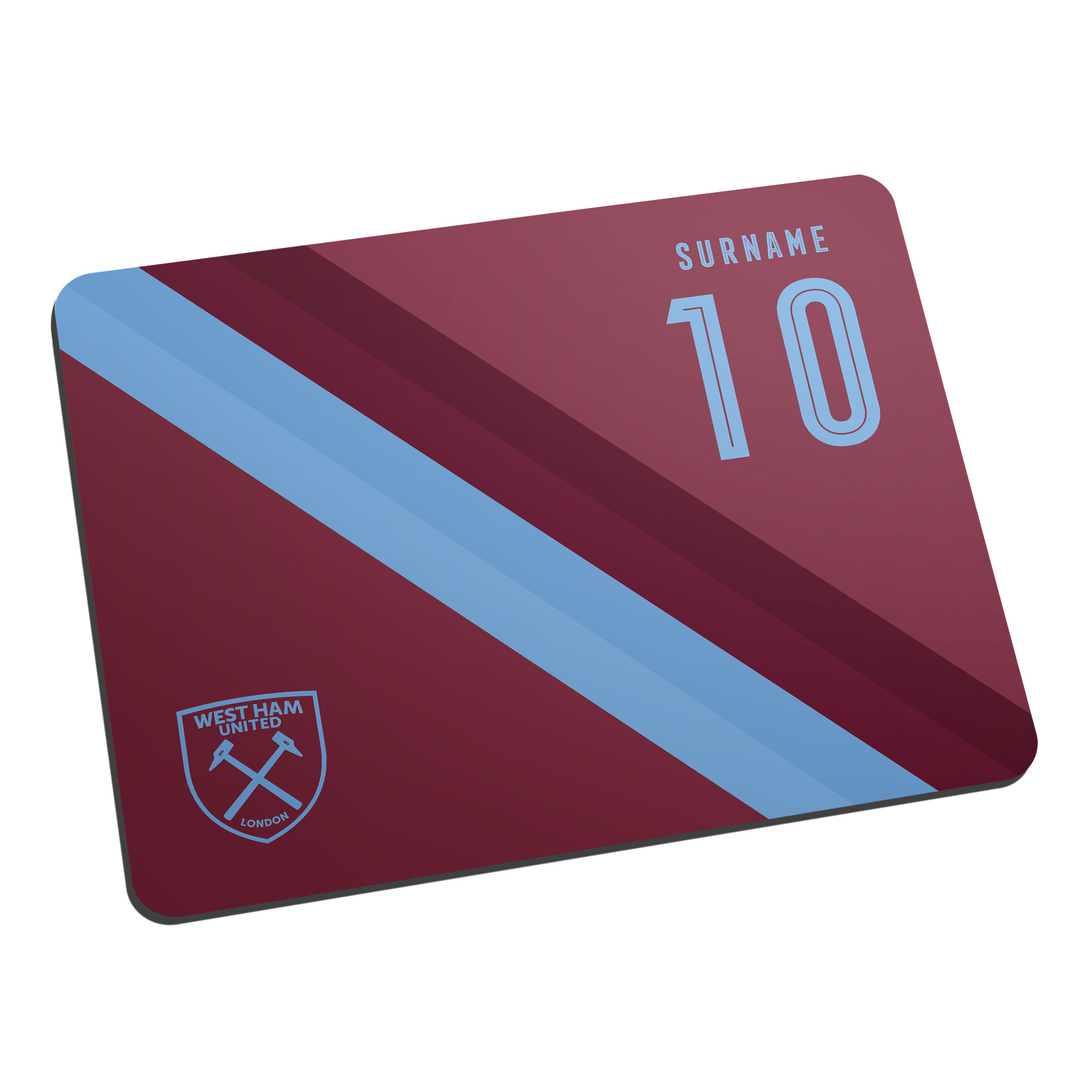 West Ham United FC Stripe Mouse Mat