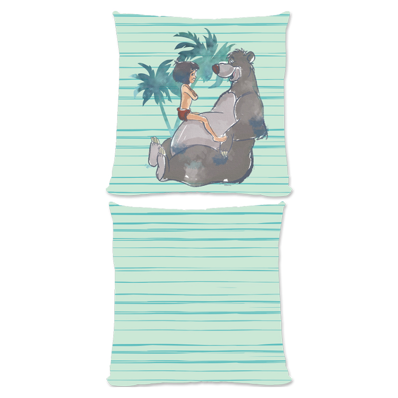 Disney The Jungle Book Baloo And Mowgli Aqua Large Fiber Cushion