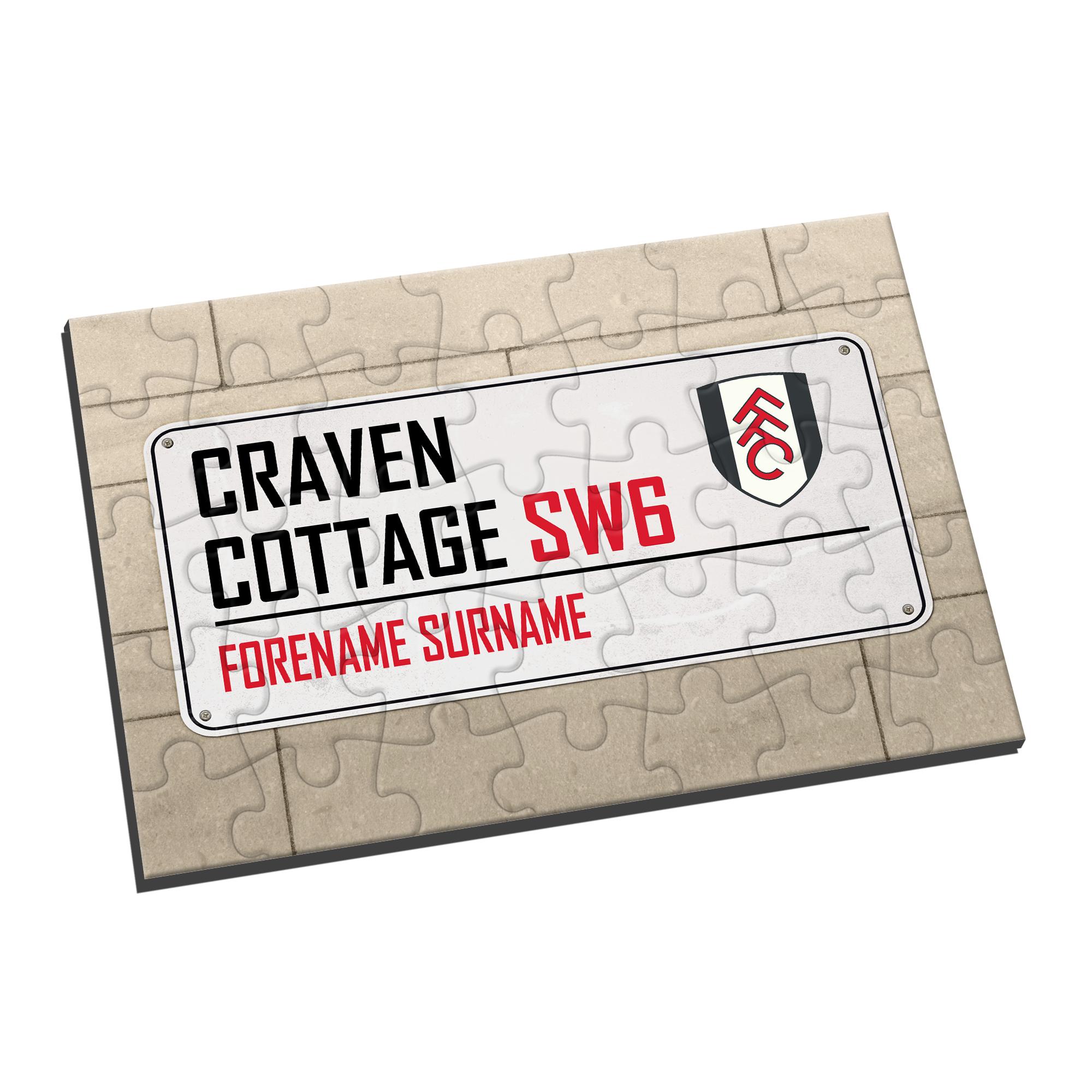 Fulham FC Street Sign Jigsaw