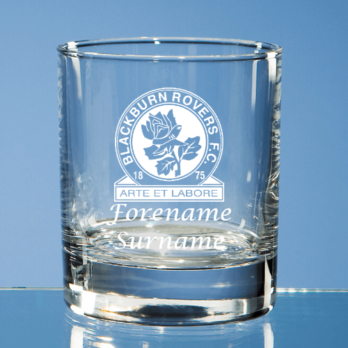 Blackburn Rovers FC Crest Old Fashioned Whisky Tumbler