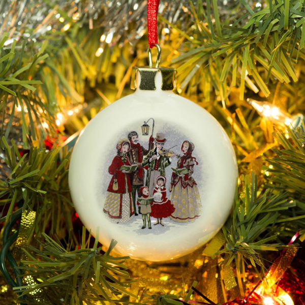 Traditional Carol Singers bauble