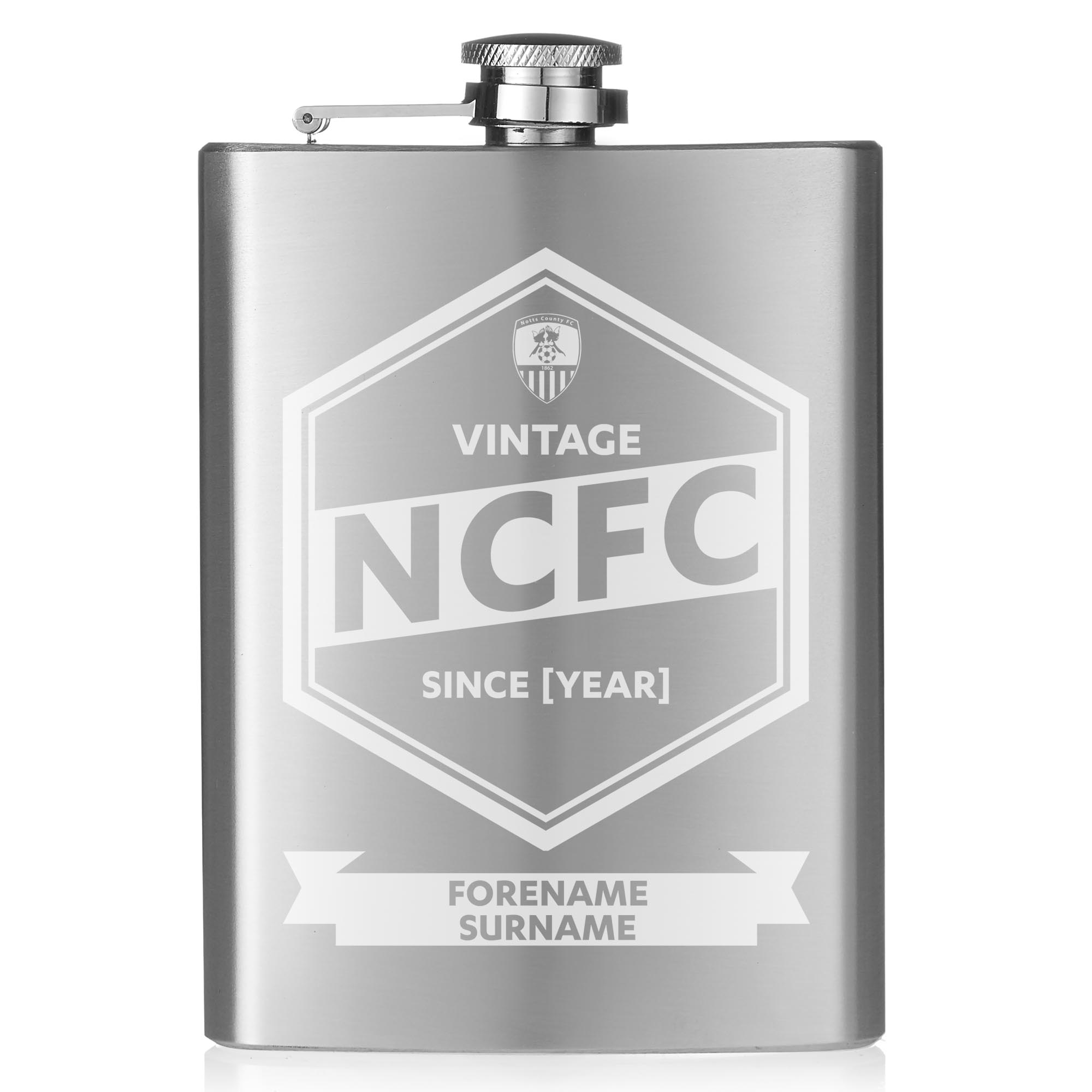 Notts County FC Vintage Hip Flask