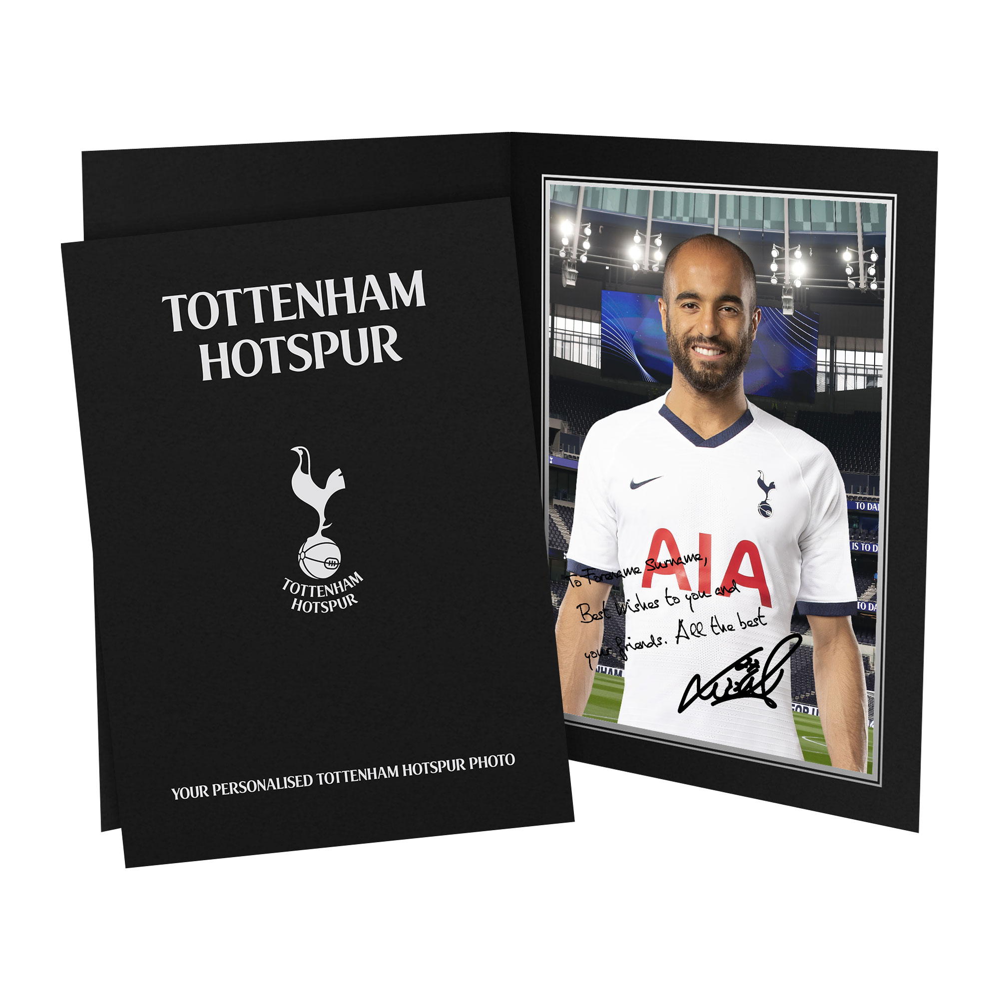 Tottenham Hotspur Moura Autograph Photo Folder