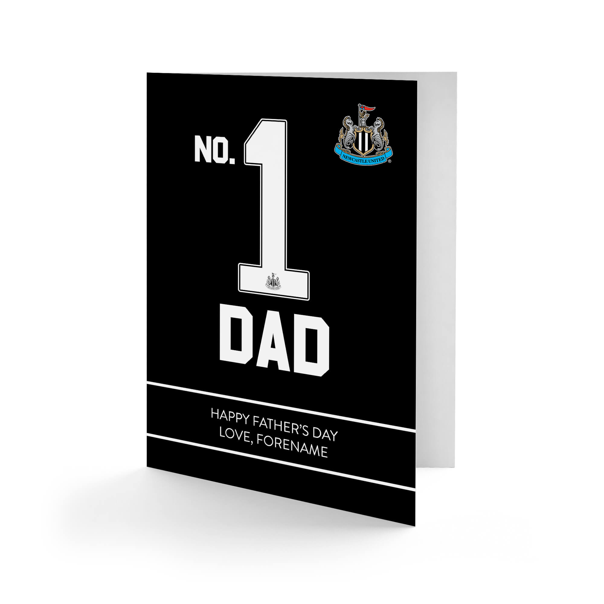 Newcastle United FC No.1 Dad Father's Day Card