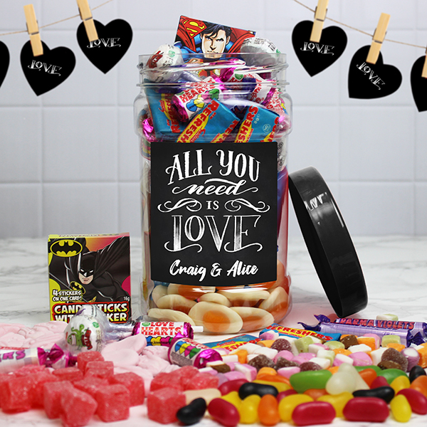 All You Need Is Love Retro Sweet Jar