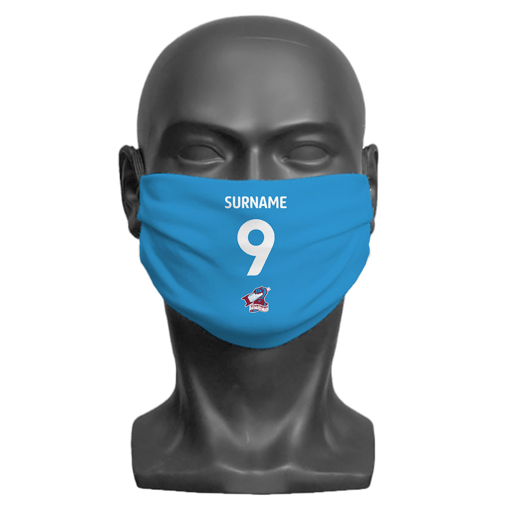 Scunthorpe United FC Back of Shirt Adult Face Mask (Large)