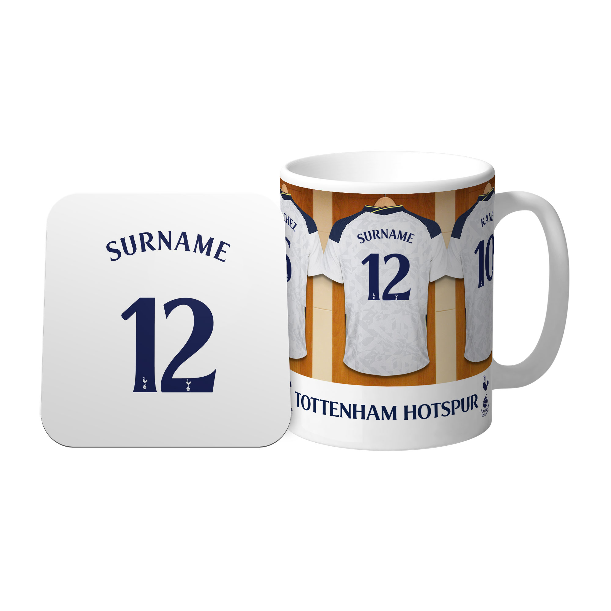 Tottenham Hotspur Dressing Room Mug & Coaster Set