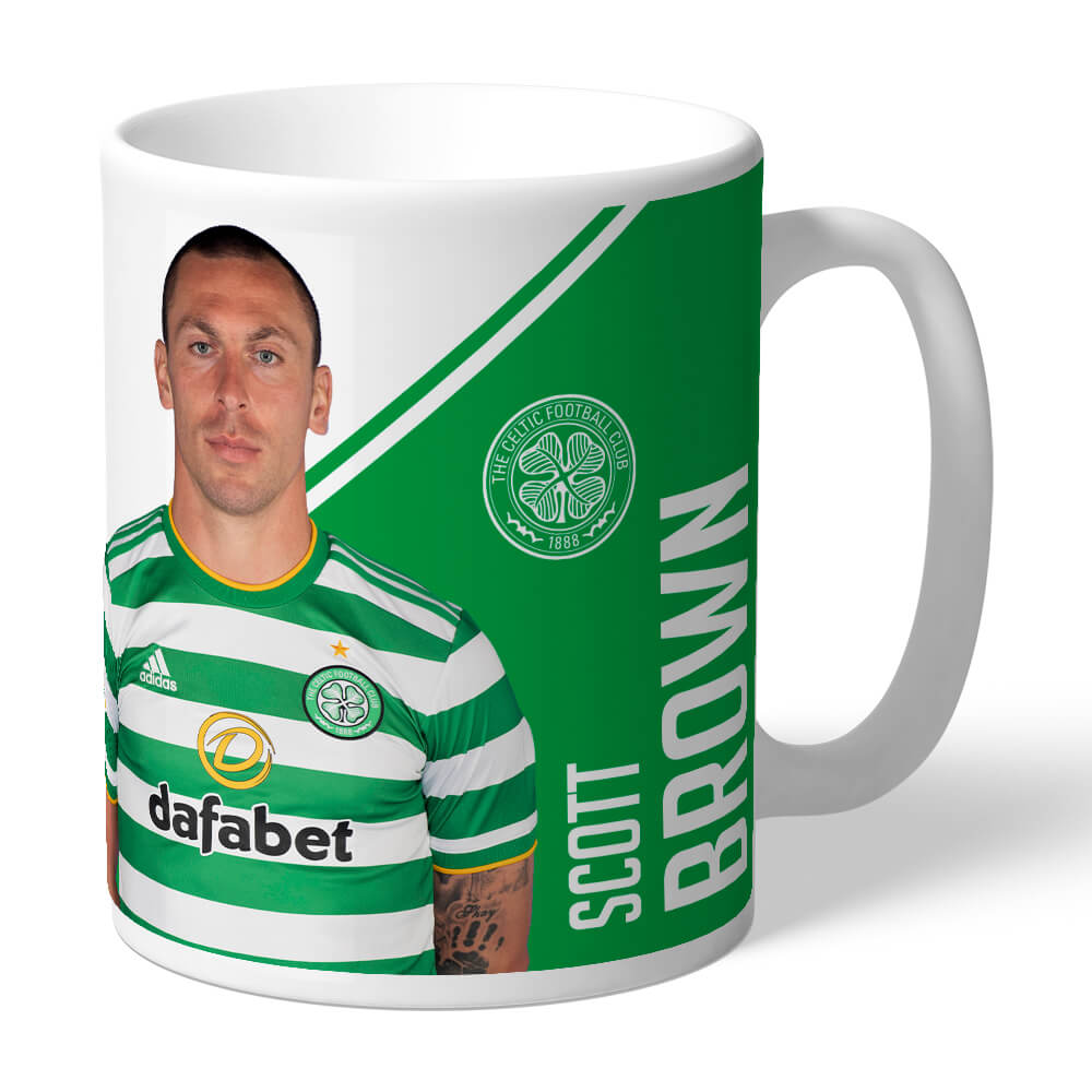 Celtic FC Brown Autograph Mug