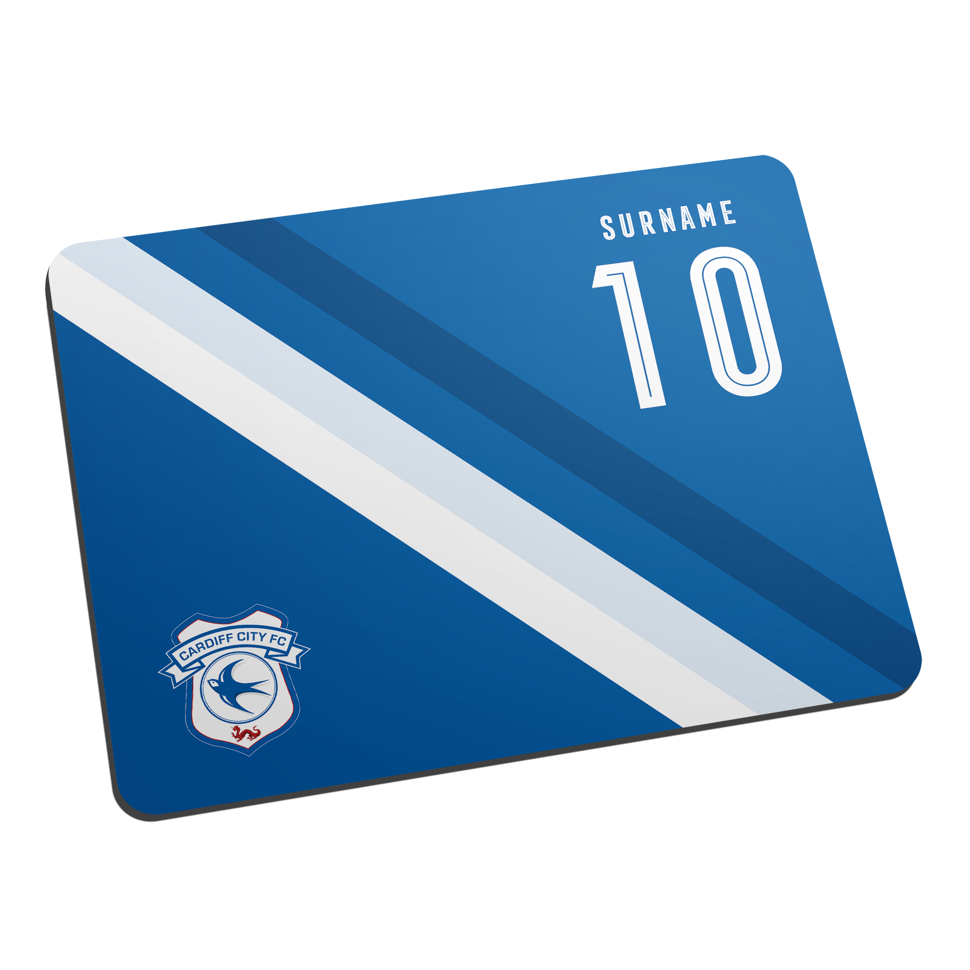 Cardiff City Stripe Mouse Mat