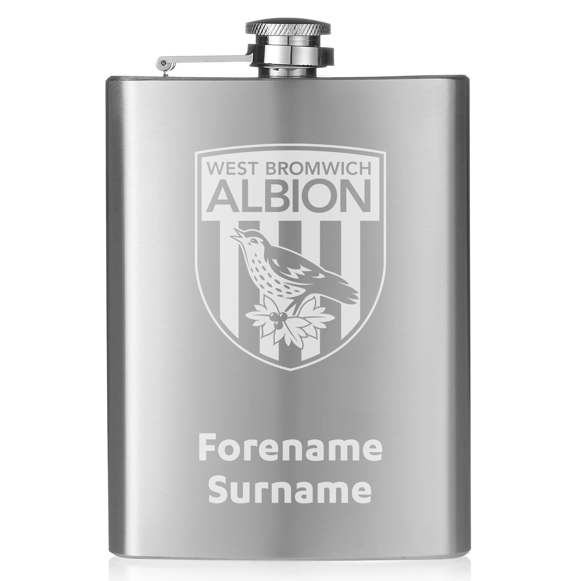 West Bromwich Albion FC Crest Hip Flask