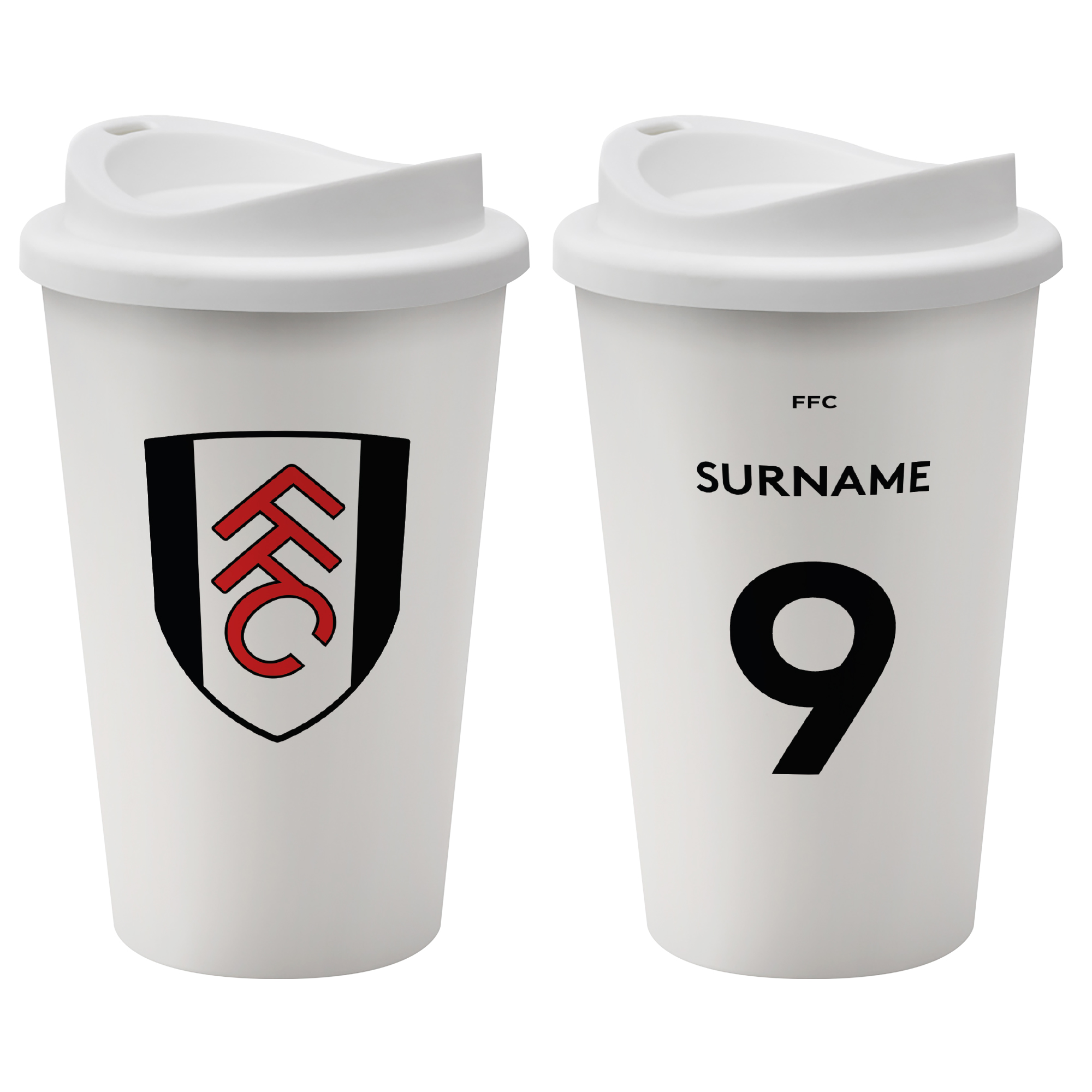 Fulham FC Back of Shirt Reusable Cup