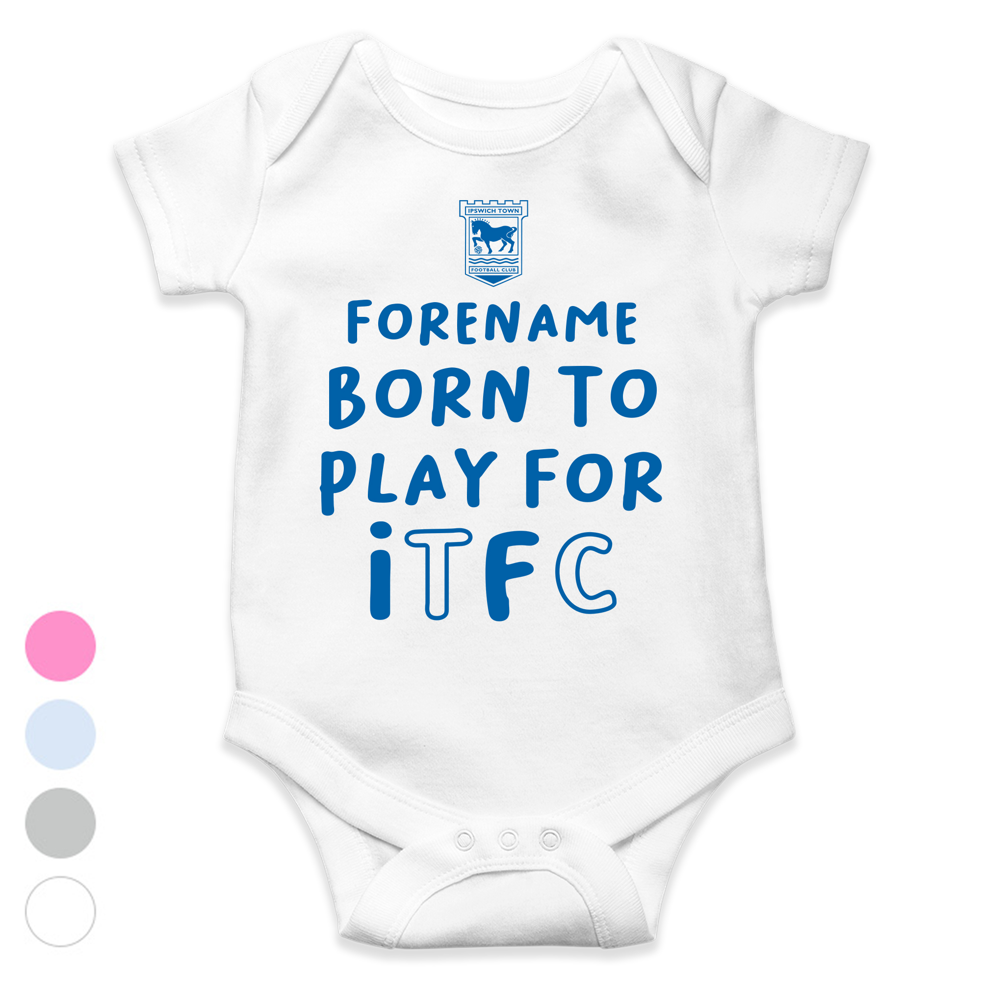 Ipswich Town FC Born to Play Baby Bodysuit