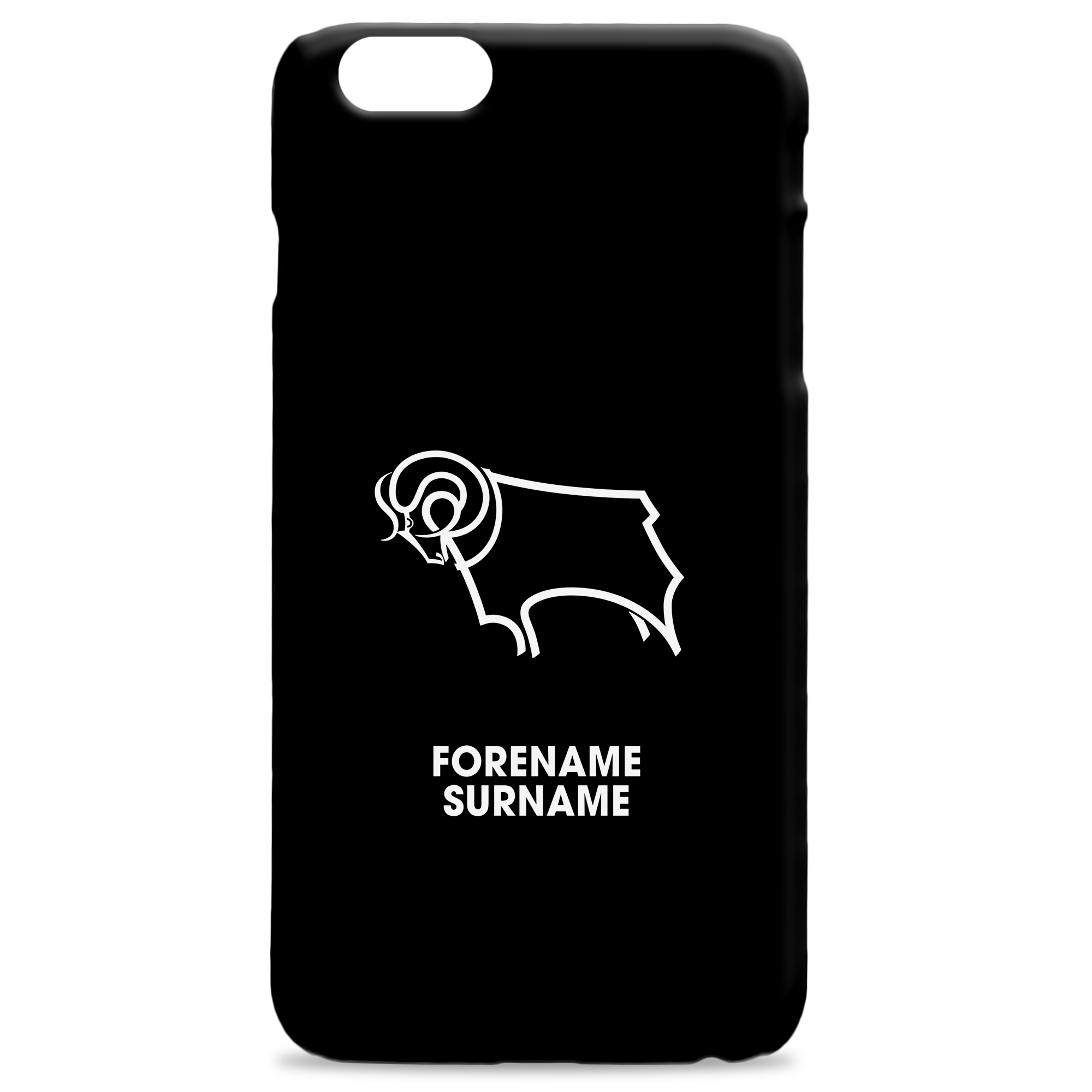 Derby County Bold Crest Hard Back Phone Case