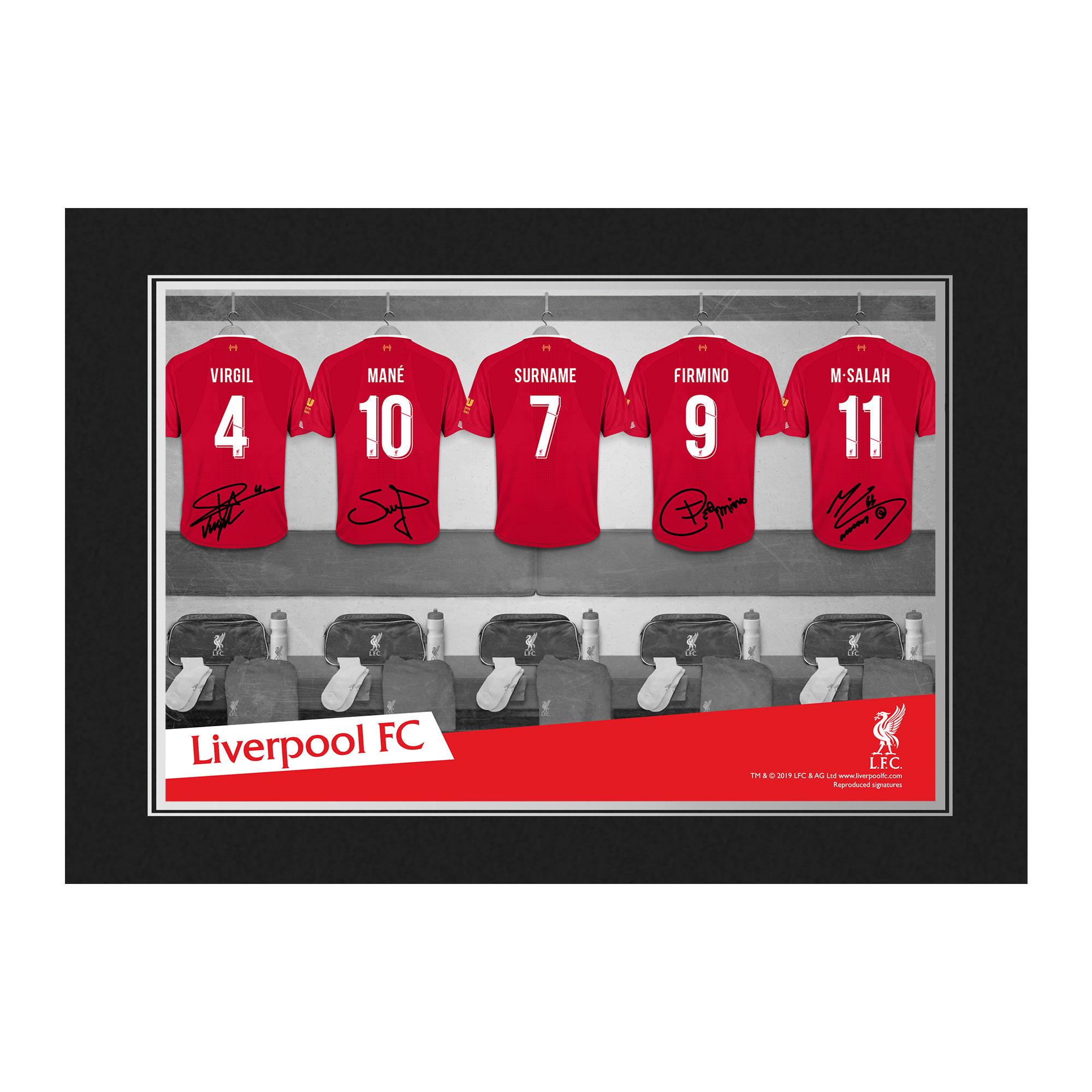 Liverpool FC 9x6 Dressing Room Photo Folder