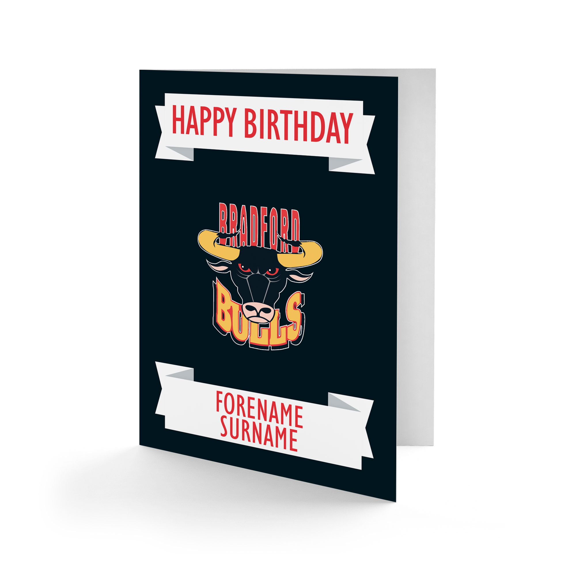 Bradford Bulls Crest Birthday Card