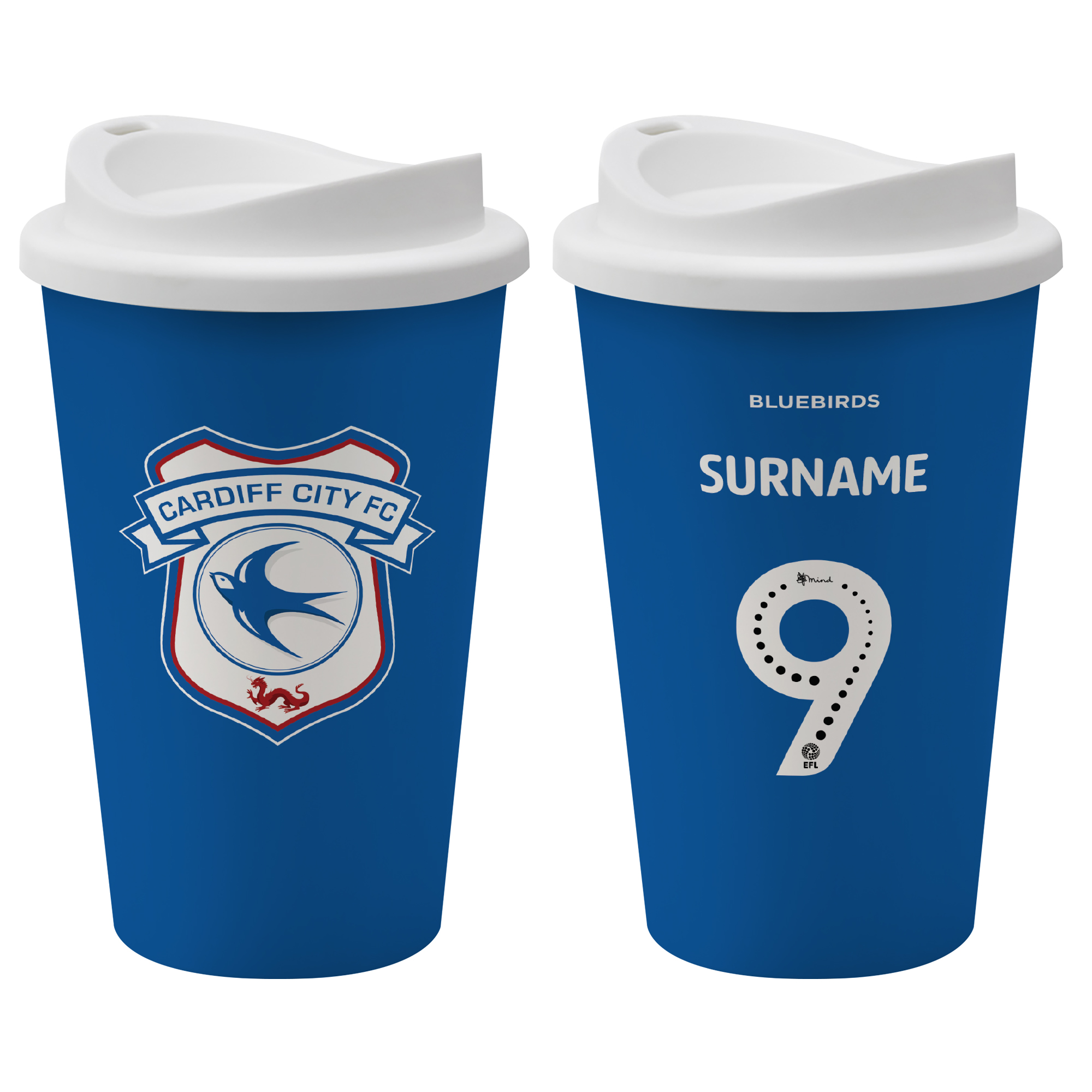 Cardiff City FC Back of Shirt Reusable Cup