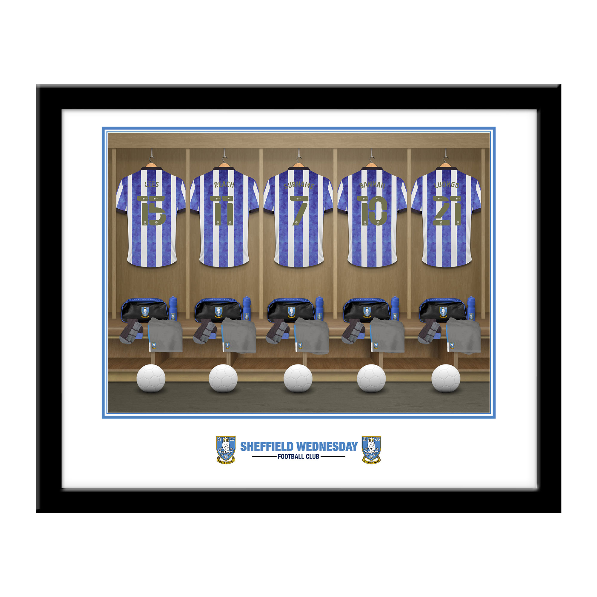 Sheffield Wednesday FC Dressing Room Framed Print