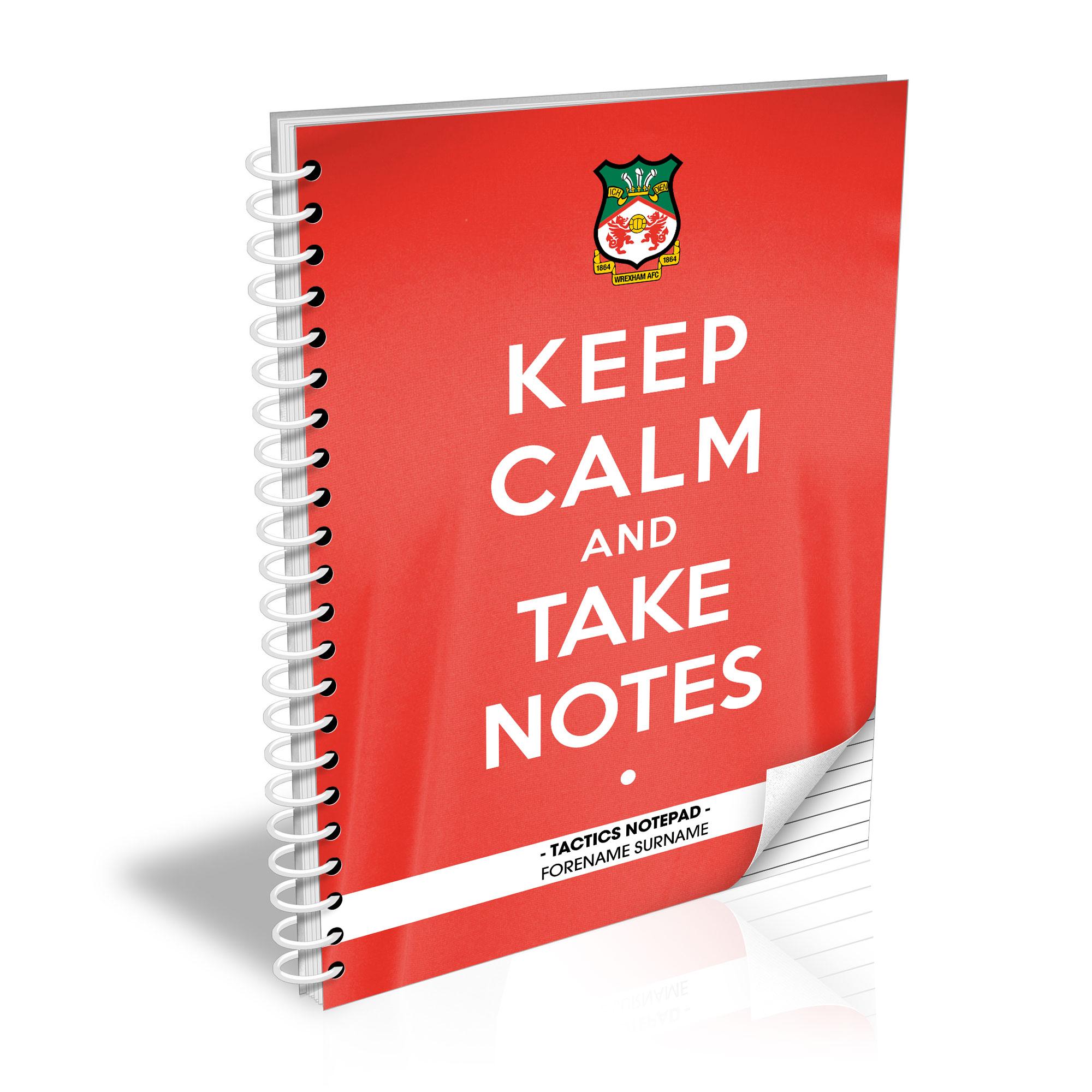 Wrexham AFC Keep Calm Notebook