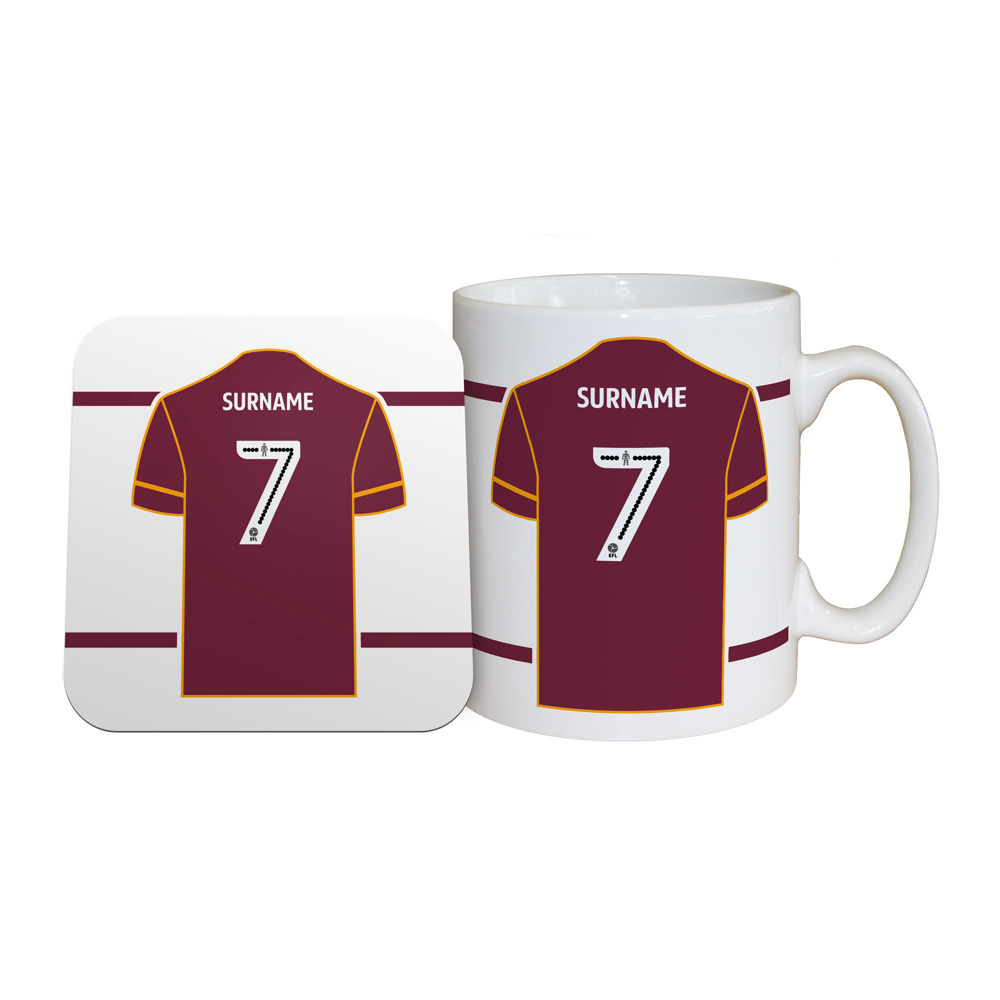 Bradford City AFC Shirt Mug & Coaster Set