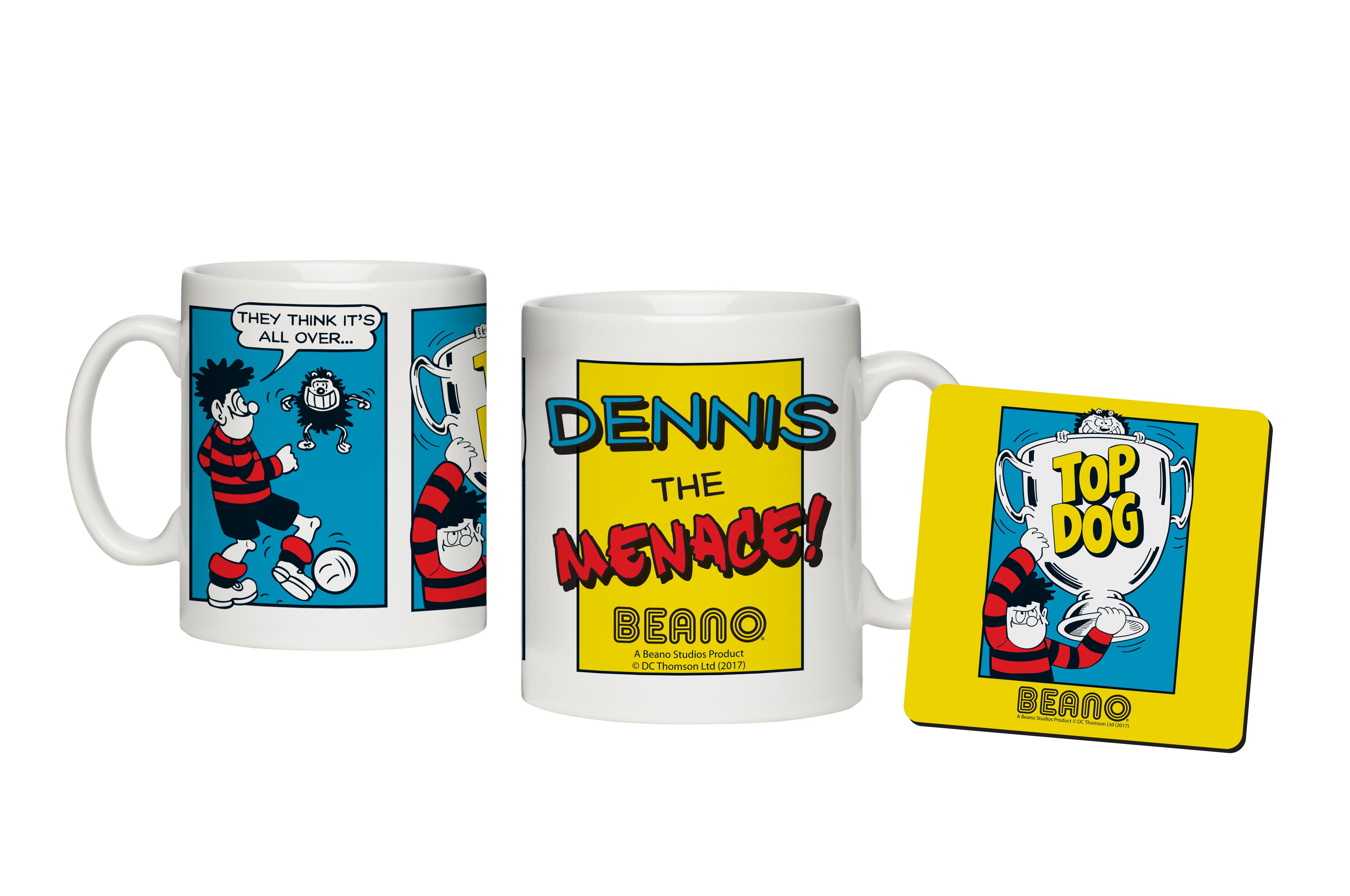 Beano Classic Comic Strip Top Dog Mug & Coaster