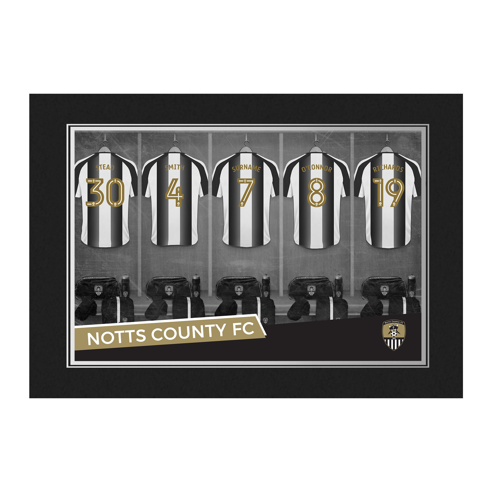 Notts County FC 9x6 Dressing Room Photo Folder