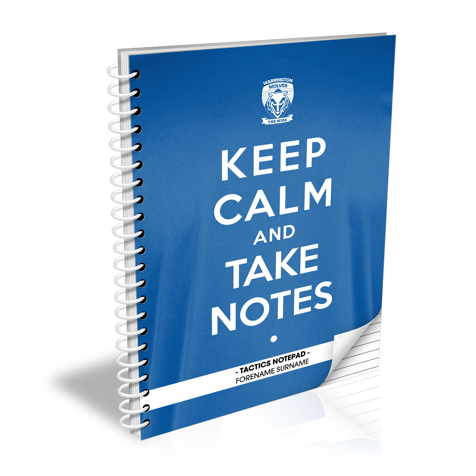 Warrington Wolves Keep Calm Notebook