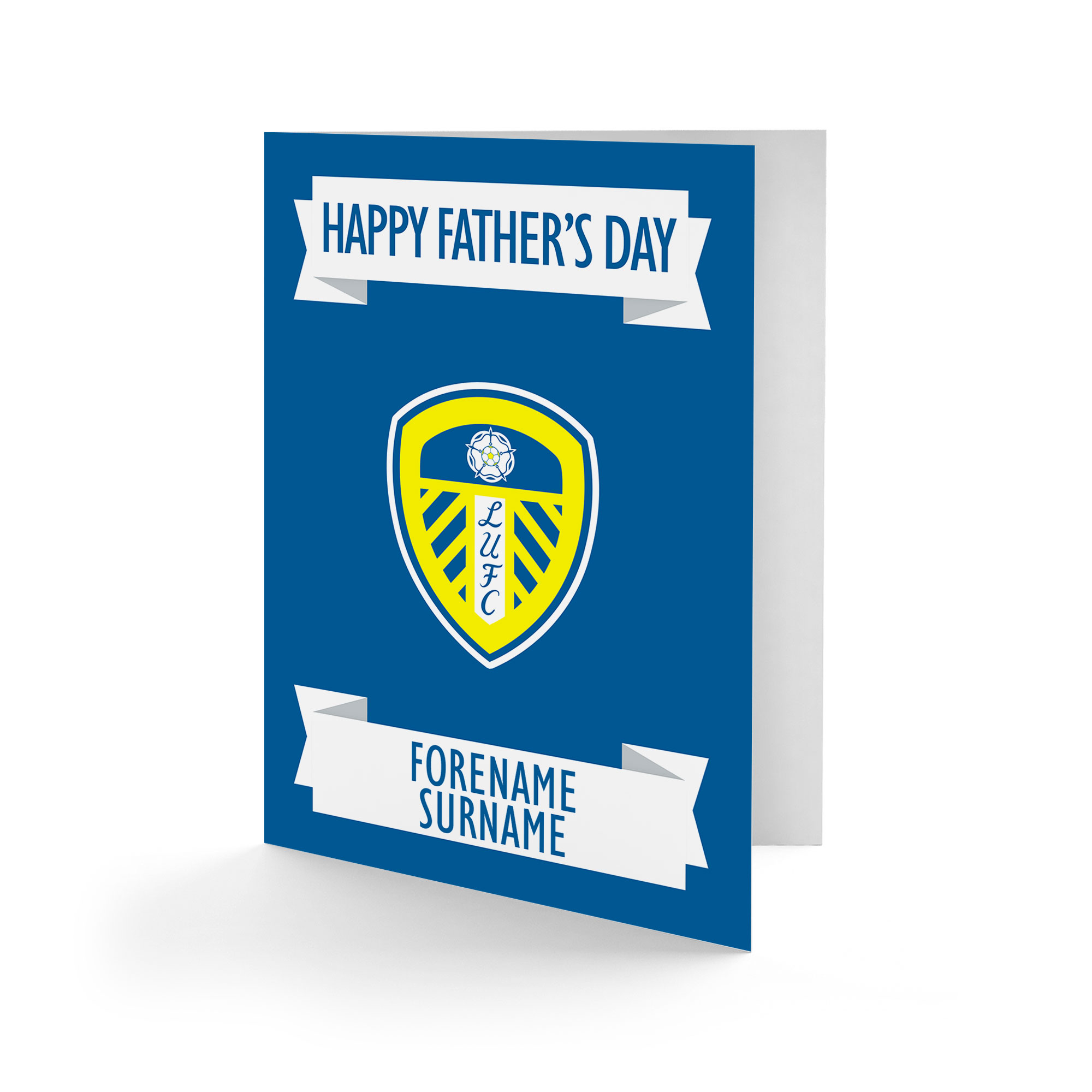 Leeds United FC Crest Father's Day Card