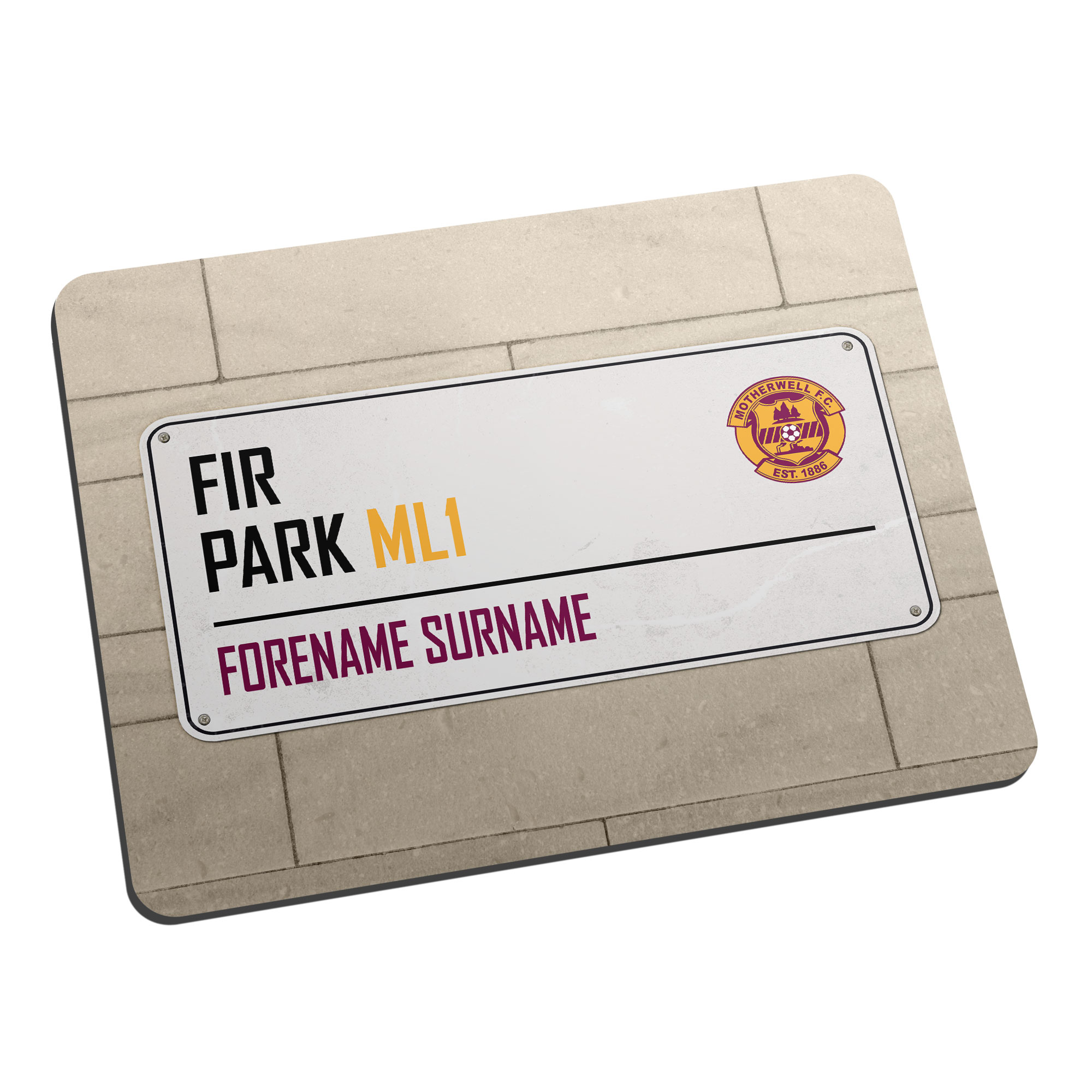 Motherwell FC Street Sign Mouse Mat