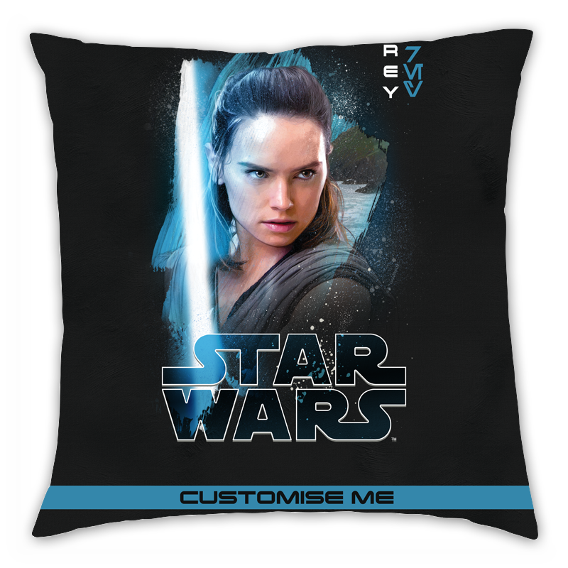 Star Wars Rey Last Jedi Spray Paint Cushion