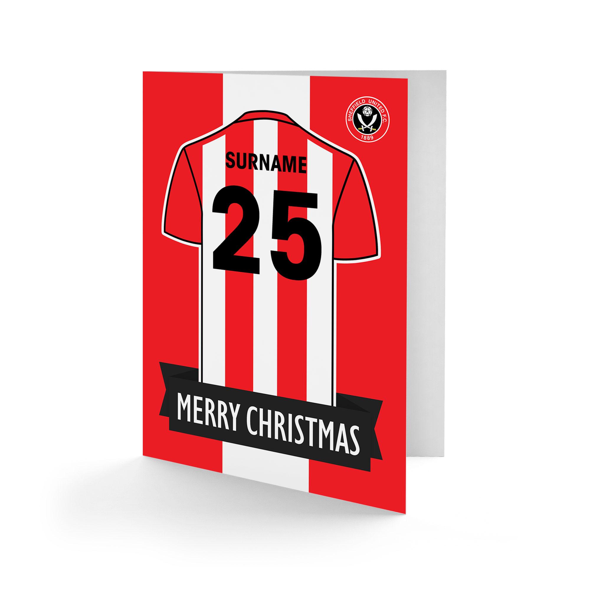 Sheffield United FC Shirt Christmas Card