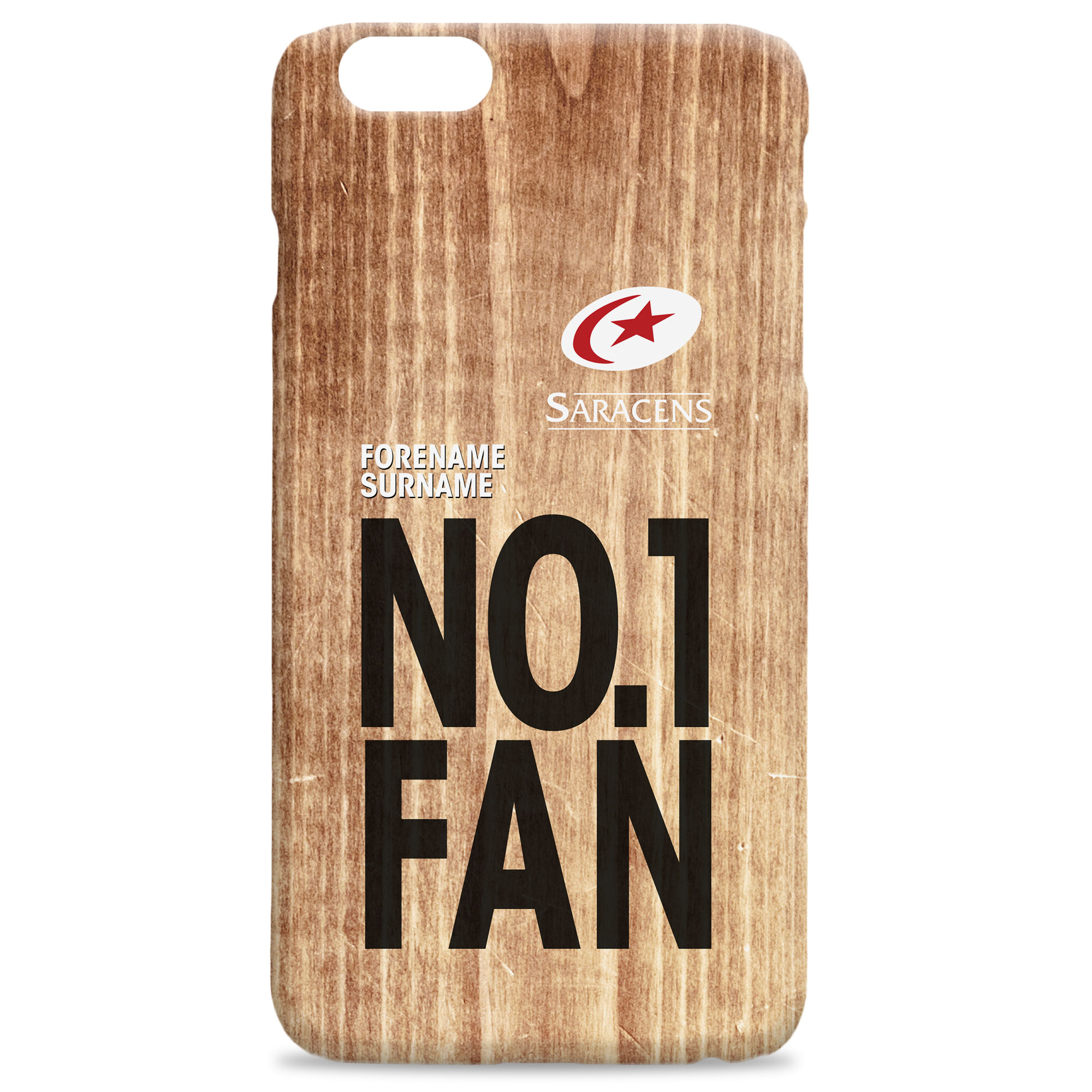 Saracens No 1 Fan Hard Back Phone Case
