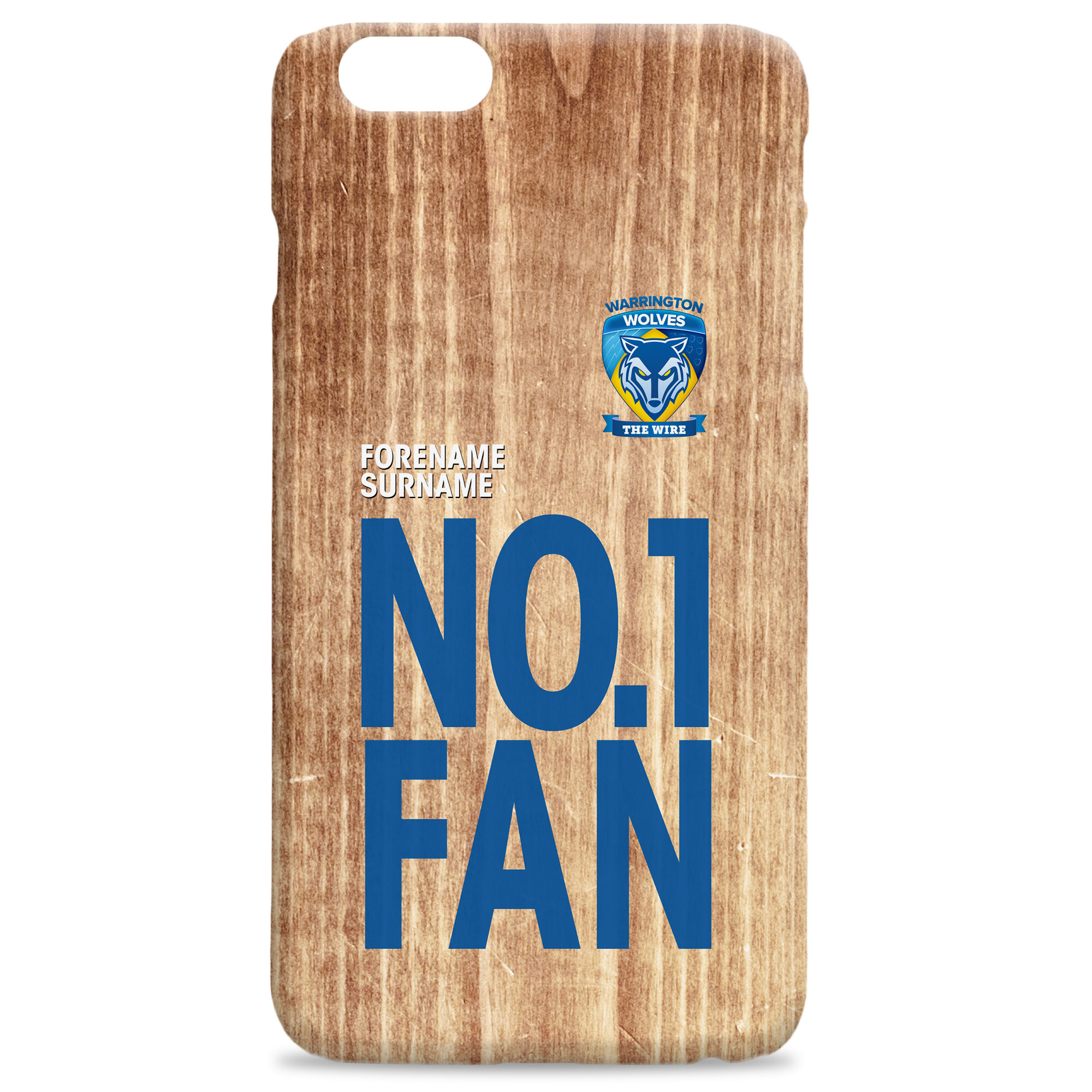 Warrington Wolves No 1 Fan Hard Back Phone Case