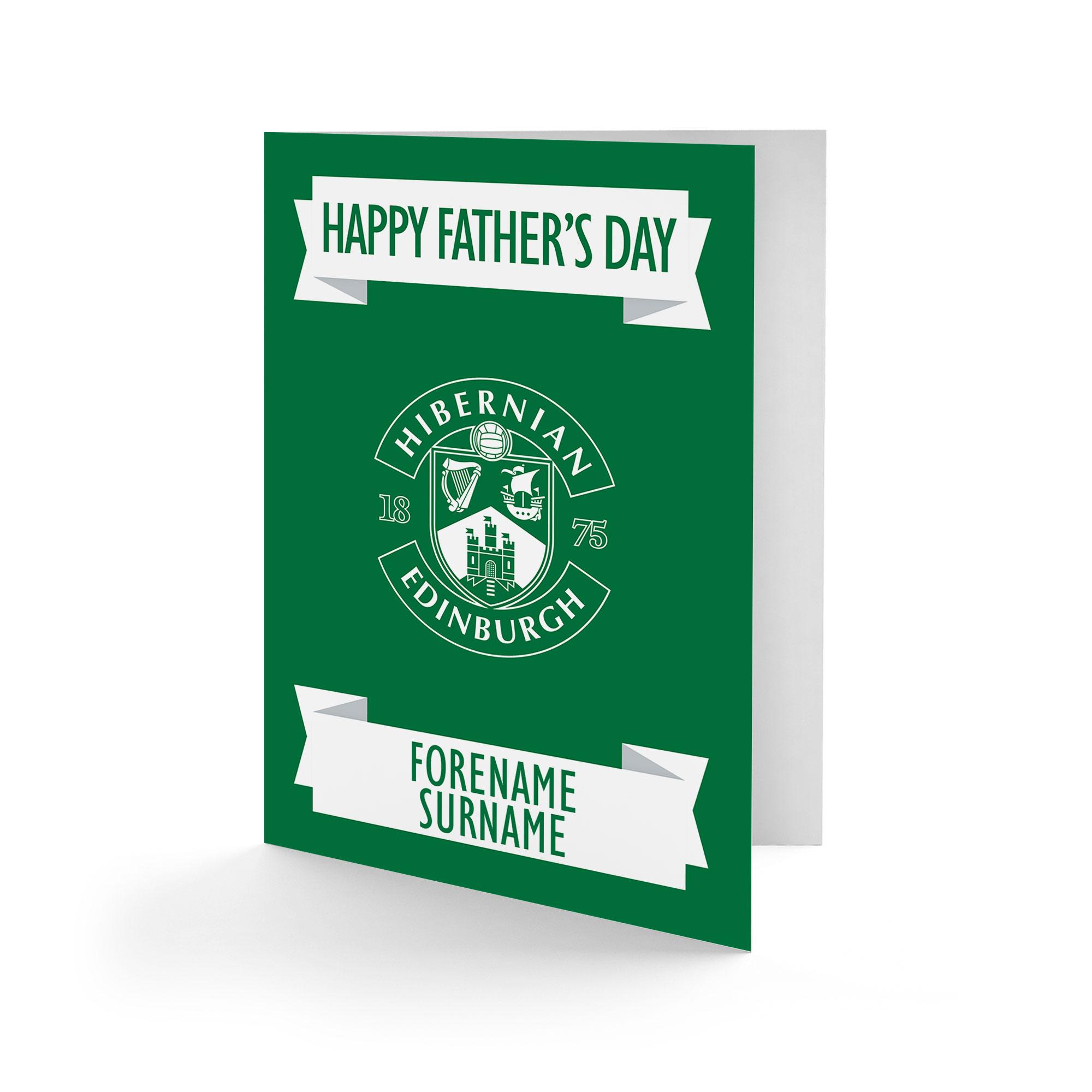 Hibernian FC Crest Father's Day Card