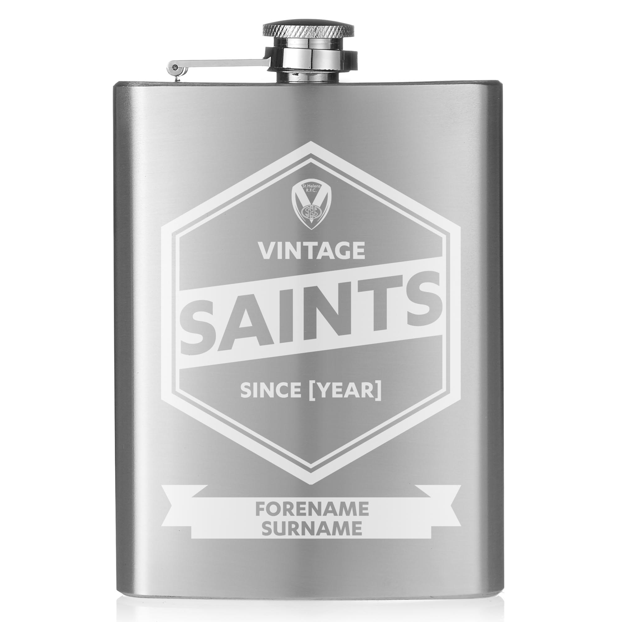 St Helens Vintage Hip Flask