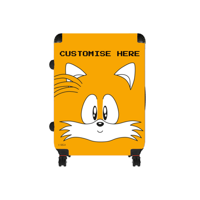 Large Suitcase - Tails Face - Classic Sonic