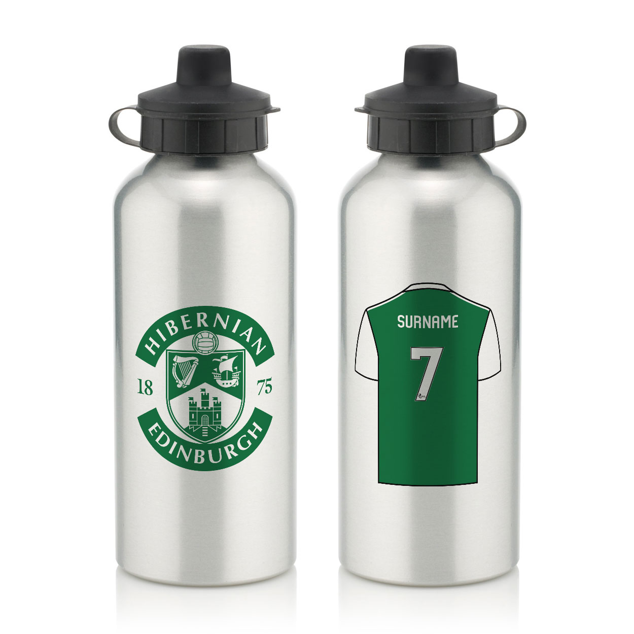Hibernian FC Aluminium Water Bottle