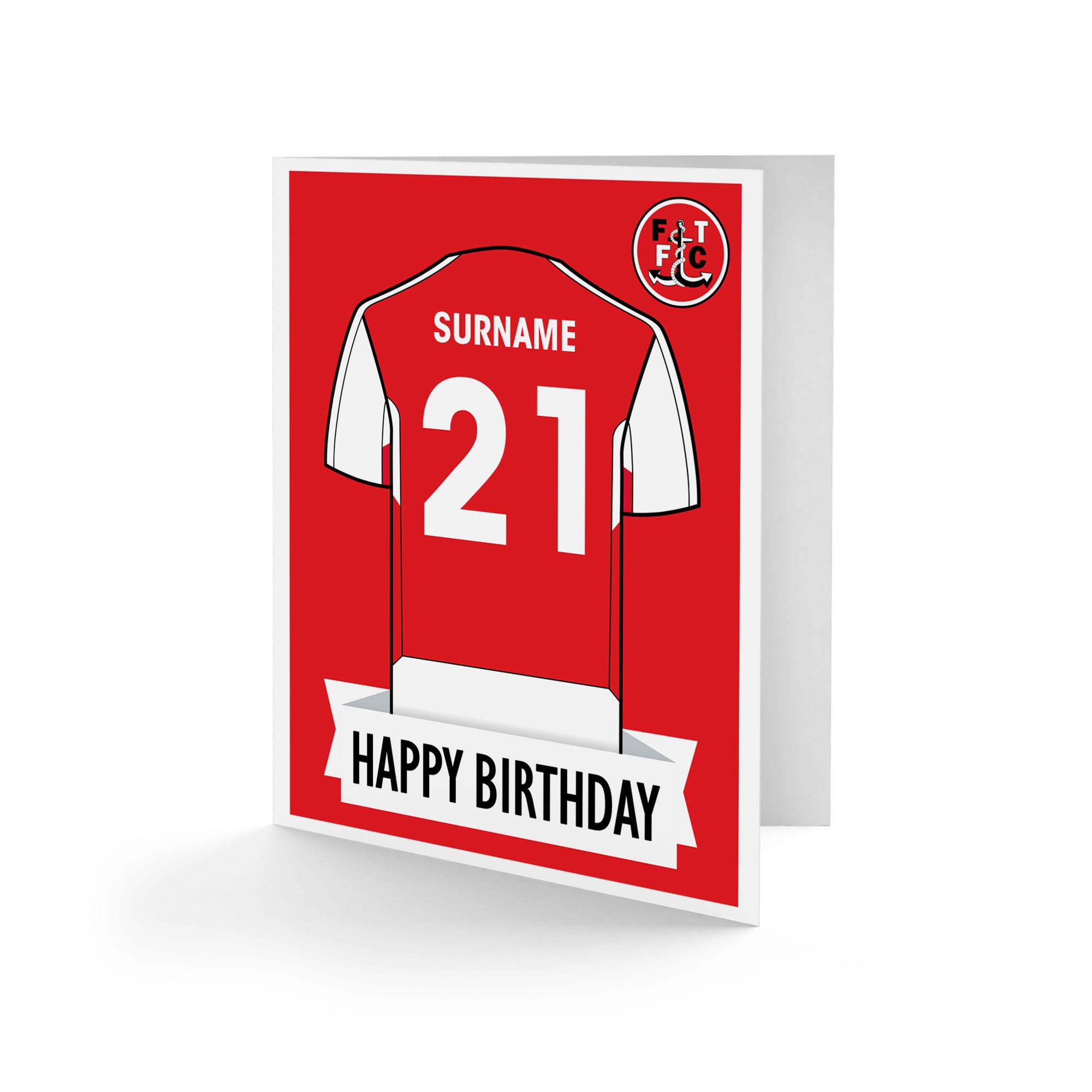Fleetwood Town FC Shirt Birthday Card
