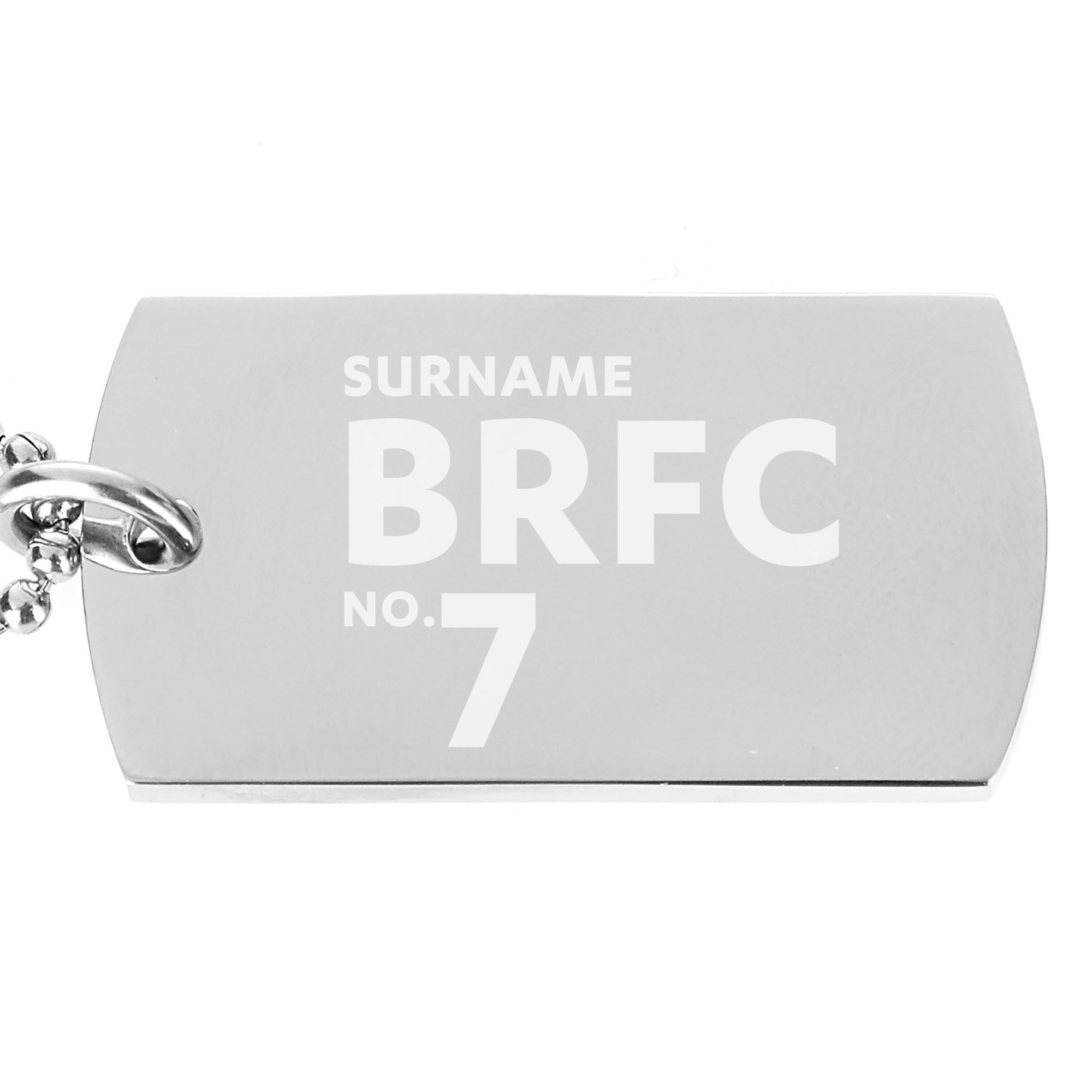 Blackburn Rovers FC Number Dog Tag Pendant