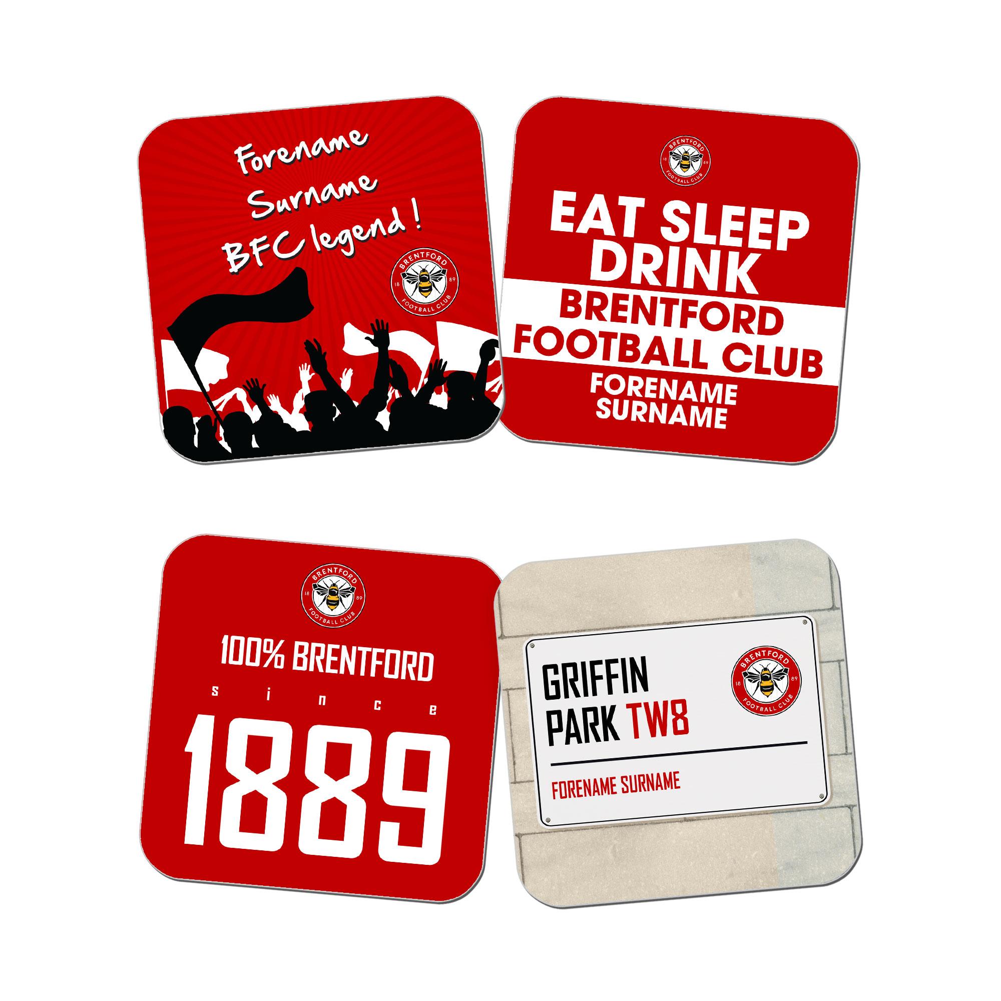 Brentford FC Coasters
