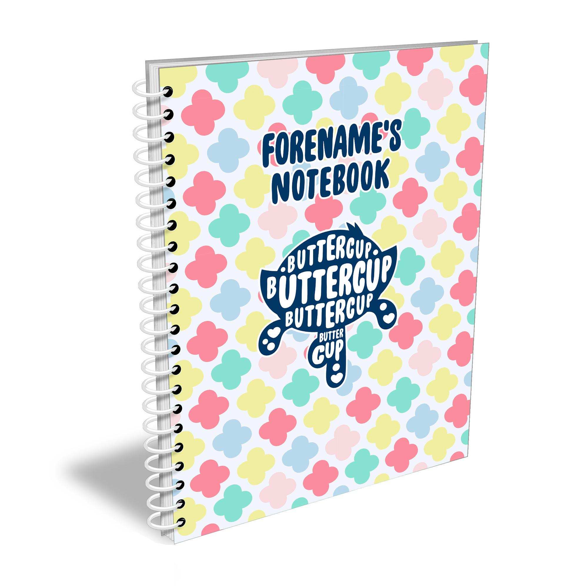 Powerpuff Girls Buttercup Silhouette A4 Notebook