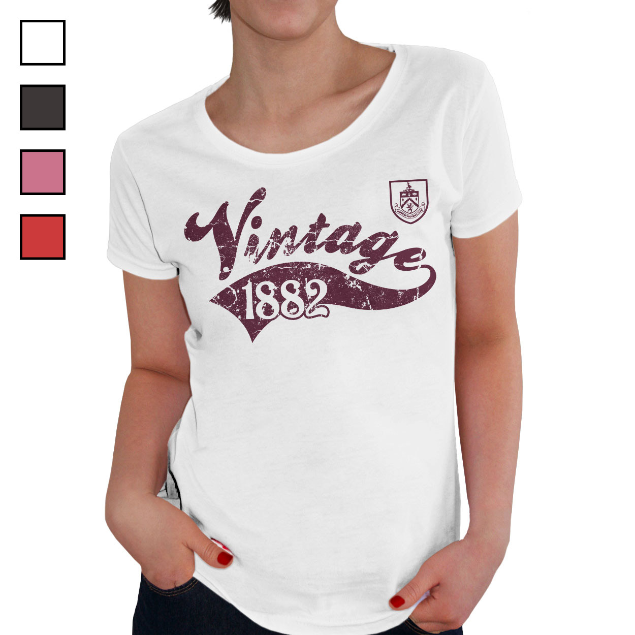 Burnley FC Ladies Vintage T-Shirt