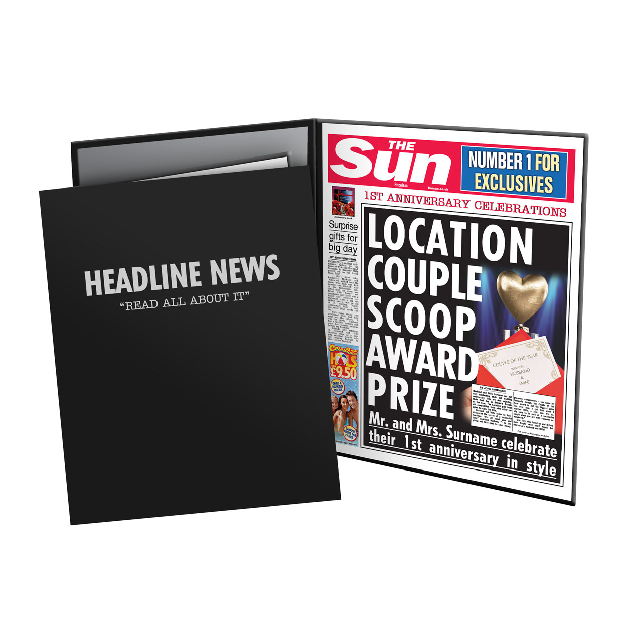 The Sun 1st Anniversary News Folder